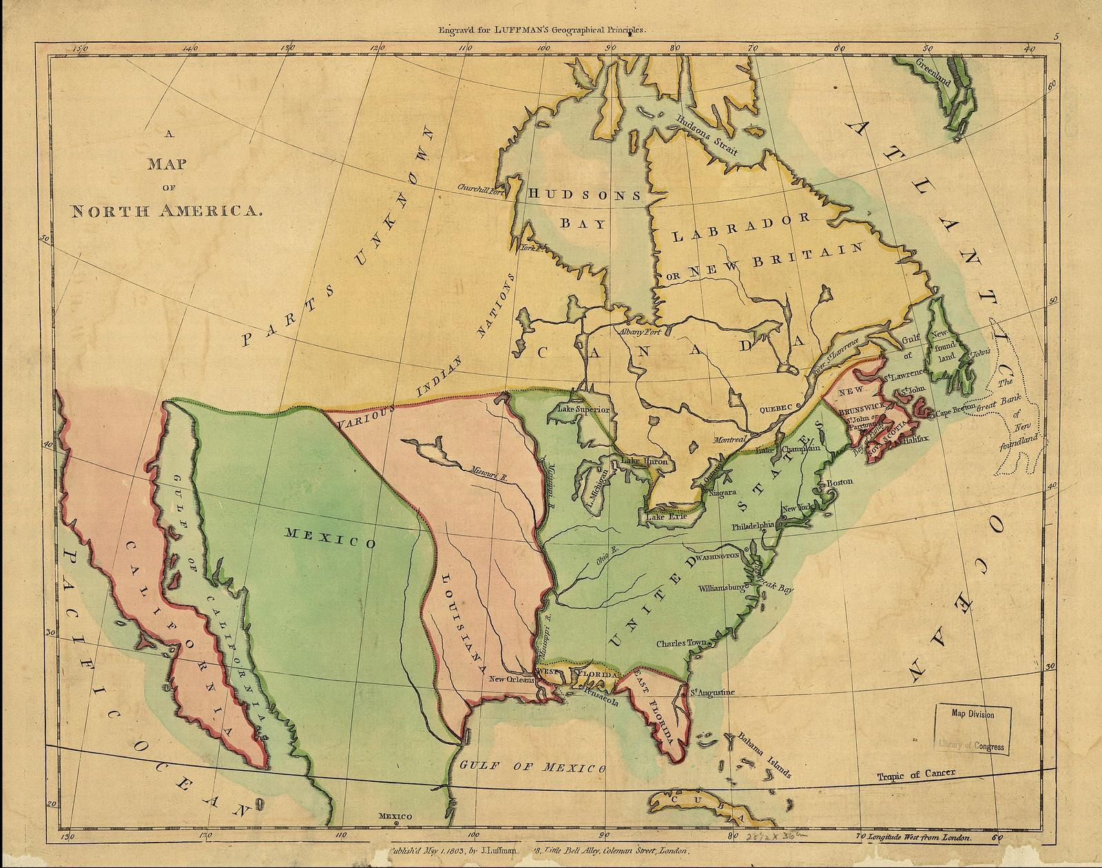 1803 In North America